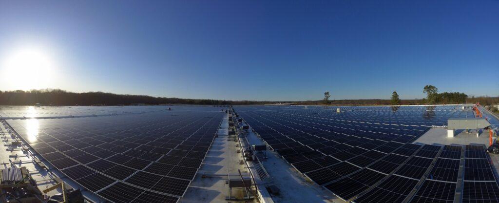 Solar installation in East Greenwich Rhode Island